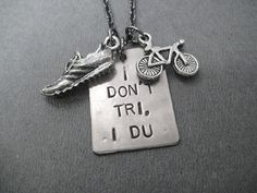 I Don't Tri I DU Duathlon Necklace   Run Bike by TheRunHome, $26.00