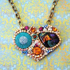 http://www.etsy.com/listing/69687133/stunning-dichroic-rhinestone-and-jewels #jewelry