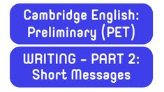 Improve your writing for Cambridge English: Preliminary (PET). Learn tons of expressions for Writing Part short messages words). Email Writing, Improve Writing, Cambridge English, Short Messages, 100 Words, Improve Yourself, Teaching, Lettering, Education
