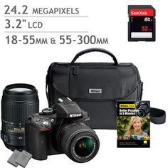 Costco: Nikon D5300 DSLR Camera 2 Lens Bundle