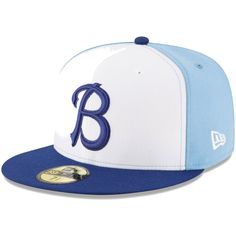 1909c89ba29 Men s Buffalo Bisons New Era White Navy Alternate 3 Authentic Collection On-Field  59FIFTY Fitted Hat