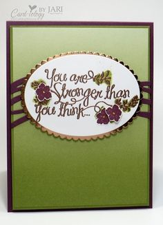 Stampin' Up! Heartfelt Sympathy-Cardiology by Jari