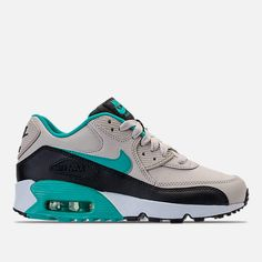 reputable site 9c168 a0b86 Nike Boys  Grade School Air Max 90 Leather Running Shoes