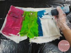 DIY Tie-Dye Shorts DIY Clothes DIY Crafts