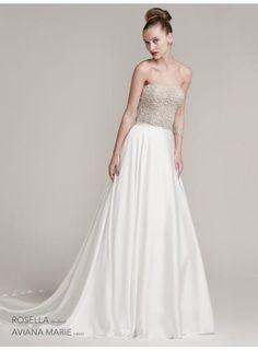 Chiffon una linea di abiti da sposa da sposa