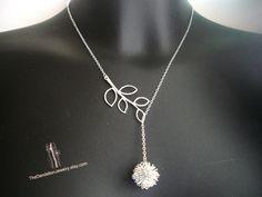 SALE, 10% OFF: Dandelion earrings in white gold, dangle earrings, drop earrings, jewelry