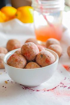 Check out Back To School Clean Eating Snacks | Gluten-Free Pink Lemonade Protein Bites by Homemade Recipes at http://homemaderecipes.com/course/appetizers-snacks/clean-eating-snacks/