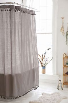 Magical Thinking Pompom Shower Curtain - Urban Outfitters