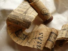 Handmade French Script Ribbon