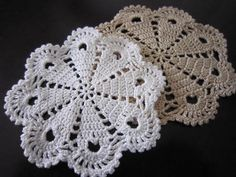 pretty hand crocheted doilies