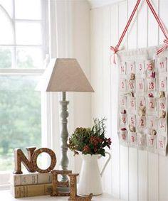 fabric pocket advent calendar wall hanging
