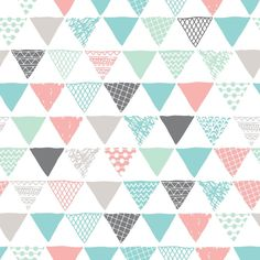 Triangle Fabric - Geometric Tribal Aztec Pastel Pink & Blue Modern Pattern by Little Smile Makers Cotton Fabric by the yard with spoonflower Wallpaper Decor, Pattern Wallpaper, Iphone Wallpaper, Baby Room Colors, Baby Room Neutral, Pastel Pink, Pink Blue, Neutral Paint Colors, Textured Walls