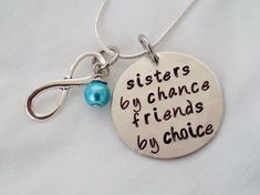 Sisters by Chance Friends by Choice Hand Stamped jewelry by TempleStamping