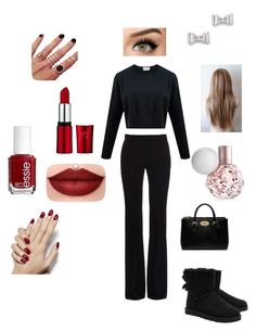"""""""Untitled #21"""" by nevin07 ❤ liked on Polyvore featuring Alexander McQueen, UGG Australia, Mulberry, Essie, Marc by Marc Jacobs and Melanie Auld"""