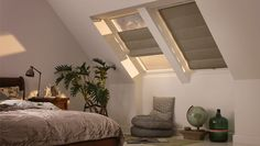 Velux blinds from Starlight Blinds are specialist blinds for roof windows or skylights including electric blinds. Discover made to measure and blackout velux blinds. Blinds For Windows, House Design, Velux, Blinds, Attic Rooms, Home, Home Deco, Bedroom Design, Room