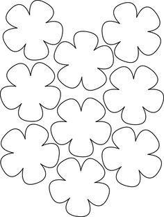 Hoje temos novos moldes de flores. Notei que muitas de nossas leitoras adoraram a ideia de ter moldes de flores para imprimir e usar nos seus artesanatos, por isso peguei novos. Materiais: Computador/impressora Folhas brancas Passo a passo: Selecione os moldes da nossa galeria de imagem, deste jeito, eles irão aumentar de tamanho e você poderá vê-los melhor. Depois salve-os no seu computador.