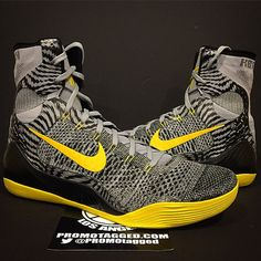 new concept 87461 f66d6 Up Close With Kobe Bryant s Wolf Grey Tour Yellow Nike Kobe 9 Elite PE  Yellow