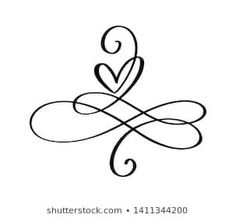 Love heart In the sign of infinity. Sign on postcard to Valentines day, wedding print. Vector calligraphy and lettering illustration isolated on a white background Tribal Tattoos, Love Symbol Tattoos, Small Quote Tattoos, Tattoos Skull, Small Quotes, Mom Tattoos, Wrist Tattoos, Tattoos For Women, Tattoos Infinity