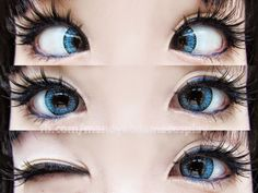 EOS Fay blue circle lenses are translucent blue circle lenses that stand out when worn over brown eyes. The pattern is nothing complex, so they ensure deep gorgeous natural looking blue eyes. Buy here: http://www.uniqso.com/eos-fay-blue/?tracking=538edb82ef814
