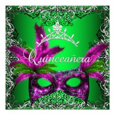 Masquerade Quinceanera 15th Lime Pink Party Custom Invitation you will get best price offer lowest prices or diccount couponeReview          Masquerade Quinceanera 15th Lime Pink Party Custom Invitation today easy to Shops & Purchase Online - transferred directly secure and trusted c...