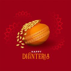 Kalash with golden coins happy dhanteras festival card Free Vector Dhanteras Wishes Images, Happy Dhanteras Wishes, Diwali Wishes, Diwali Status In Hindi, Happy Diwali Status, Happy Diwali 2019, Whatsapp Dp, Happy Diwali, Sun