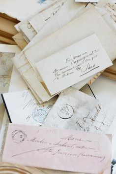 hand written letters via snail mail.....LOVE LOVE LOVE!!