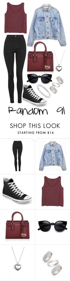 """Random 91"" by megan-walz21 ❤ liked on Polyvore featuring Topshop, Levi's, Converse, Monki, Michael Kors and Pandora"