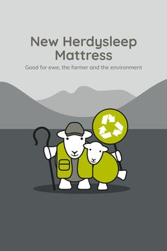 Say hello to the new Herdysleep mattress: now foam free, glue free, and recyclable. Good for ewe, the farmer, and the environment. Ways To Sleep, Sheep Wool, Say Hello, Farmer, No Response, Mattress, Recycling, Environment, Sayings