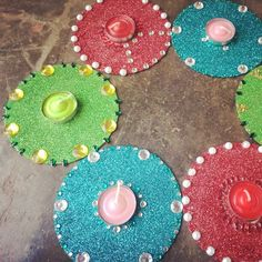 Recycled old CDs into decoratives for Diwali!