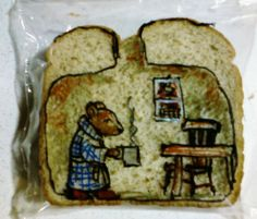 David Laferriere expone en Madrid los dibujos que hace en los sándwiches de sus hijos - ANTENA 3 TV