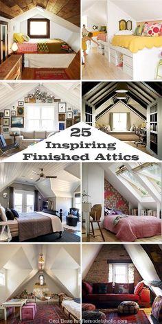 Ironwood House: 25 Inspiring Finished Attics via #Remodelaholic