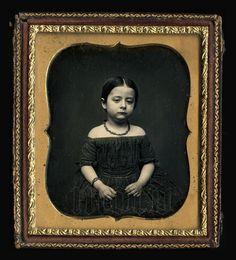 Beautiful 1850s 1/6 Daguerreotype of Very Cute Identified Little Girl
