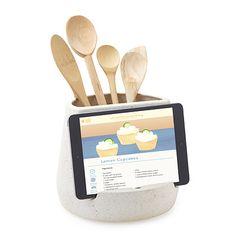tablet holder, utensil holder