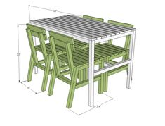 Ana White | Build a Harriet Outdoor Dining Chair for Small Modern Spaces | Free and Easy DIY Project and Furniture Plans