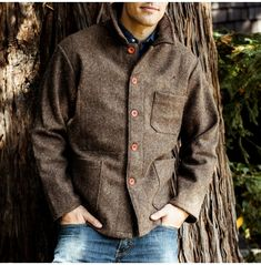 Natural Wool French Work Jacket $225.00 Item #: 1392c DETAILS : 100% wool Unlined Dry clean Runs large. We recommend buying a size smaller than your norm Made in France