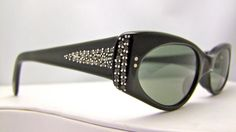 Rare 1950's Cateye Cats eye  Eyeglasses France by ifoundgallery, $125.00