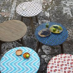 Mosaic Tiled Bistro Tables - West Elm