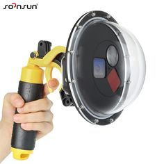SOONSUN 60M Waterproof Dome Port Dive Camera Lens Cover Filter Switchable Dome Waterproof Case w/ Trigger for GoPro HERO5 6