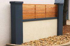 Garden Fences | Pool Fencing | Brick wall simulated fence } Garden wall