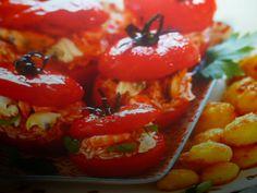 pomodorini ripieni di riso e pesce