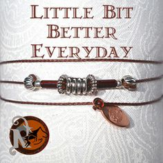 """Thread: BrownColored Glass Beads:RustGlass Tube Beads: RustMetal Beads: Tibetan Silver, Silver Plate, Copper Tag: NTIO/ Juliet (copper)Size: Fits AllClose-up Photo: Not Actual SizeThis bracelet was created for Heroes on Horseback a non-profit program that uses equine assisted therapy to aid those with mental, emotional, and physical """"disabilities.""""   It is a Premier Accredited Center of PATH (Professional Association of Therapeutic Horsema…"""