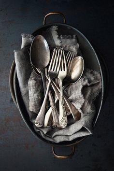 Vintage Cutlery / What Katie Ate Vintage Stil, Vintage Silver, What Katie Ate, Food Photography Props, Product Photography, Tabletop Photography, Vintage Photography, Creative Photography, Vintage Cutlery