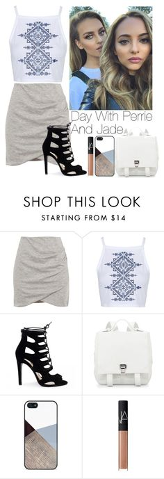 """Day with Perrie and Jade"" by lovatic92 ❤ liked on Polyvore featuring Pull&Bear, Topshop, Proenza Schouler, BlissfulCASE and NARS Cosmetics"