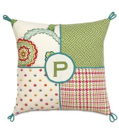 Monogram a pillow for your girl's room!