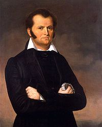 Jim Bowie- legendary fighter and frontiersman born in Logan County, Ky. His prowess with a knife led to the popularity of the Bowie knife.