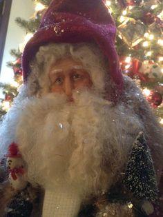 Red Velvet Santa by Sandy Bridgett. Sold