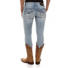 Miss Me Women's Distressed Signature Skinny Jeans
