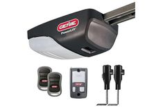 Genie PowerLift Garage Door Opener – ½ HP AC Screw Opener with 2 Pre-programmed Remotes, Multi-Function Wall Console and Safe-T-Beam Sensor System – Model - Products Lists of Tools and Hardware Best Garage Door Opener, Best Garage Doors, Overhead Garage Door, Garage Door Parts, Residential Garage Doors, Smart Set, System Model, Powerlifting, Beams