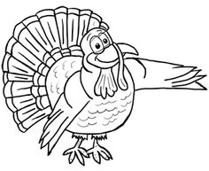 Thanksgiving Cartoon Turkeys Coloring Pages Printouts Turkey Worksheets For Kids Free Day Book Printables Sheets
