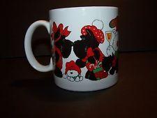 applause Christmas Mug 1986 Scottish Terriers Scotties Christmas Party Holiday